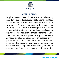 Diego Ricol Freyre: Comunicado de Banplus